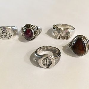 Jewelry - Mixed lot 925 silver rings